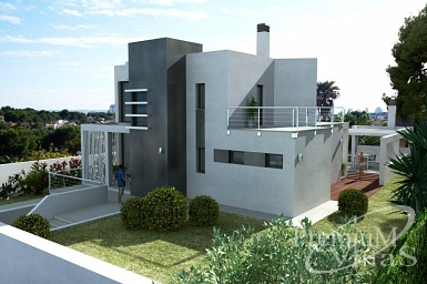 Neubau villa bauunternehmer calpe altea costa blanca for Modernes haus selber bauen neubau
