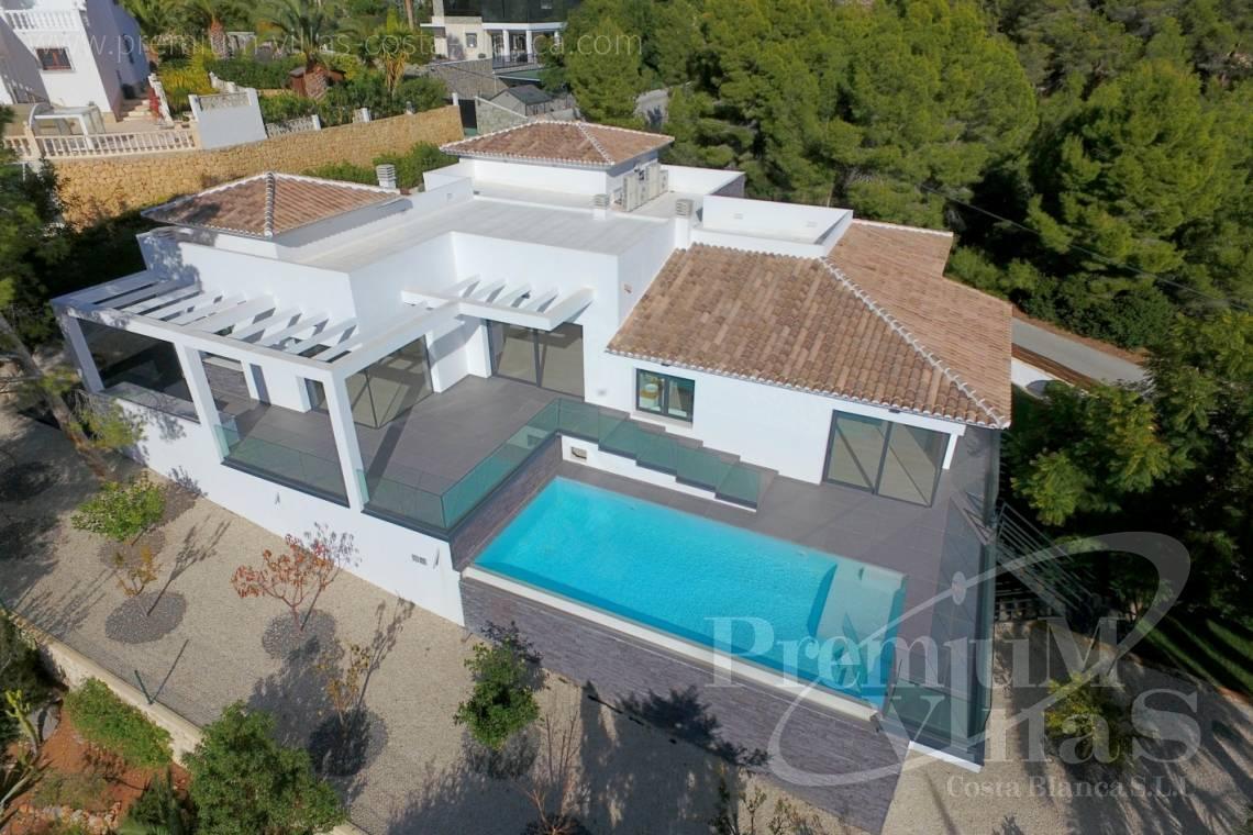 Moderne Sommerküchen : Moderne sommerküchen: moderne villa mit pool und ausblick in