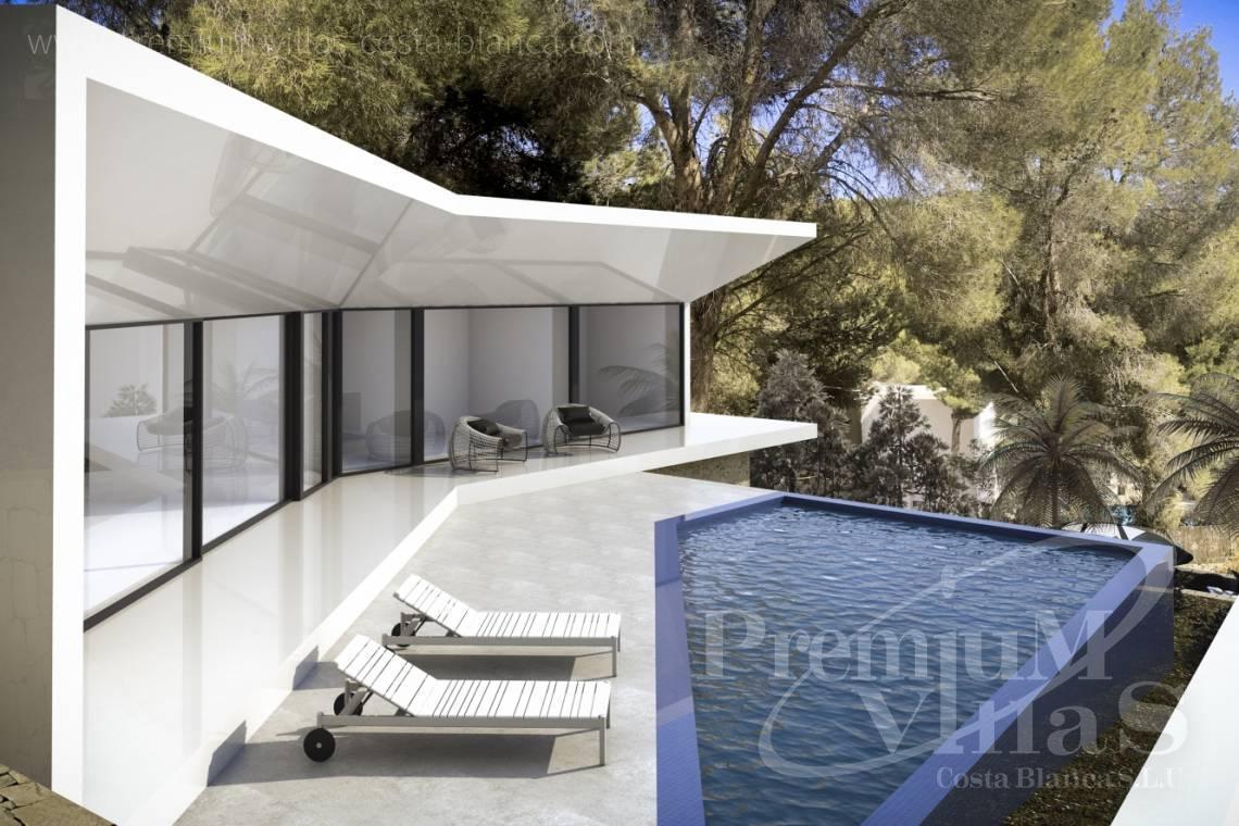 Modernes haus altea costa blanca spanien moderne villa gebaut auf